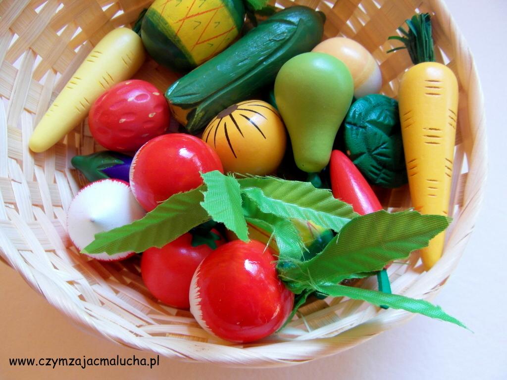 drewniane warzywa i owoce dla dzieci