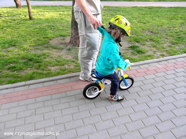 bezpieczny rowerek biegowy