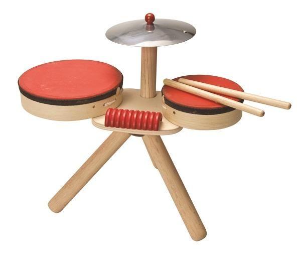 drewniana perkusja plan toys