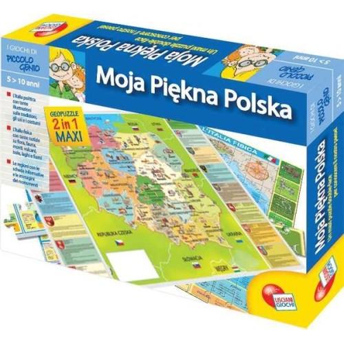 puzzle z mapą Polski