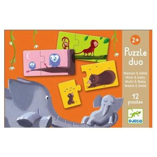 puzzle 2-elementowe djeco