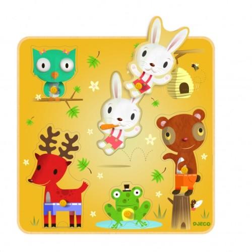 puzzle z uchwytami djeco