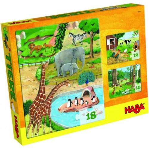 puzzle haba ze zwierzętami