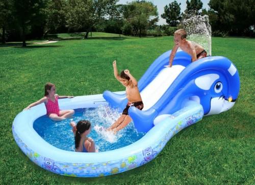 basen ze zjeżdżalnią