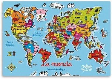 puzzle mapa świata dla dzieci