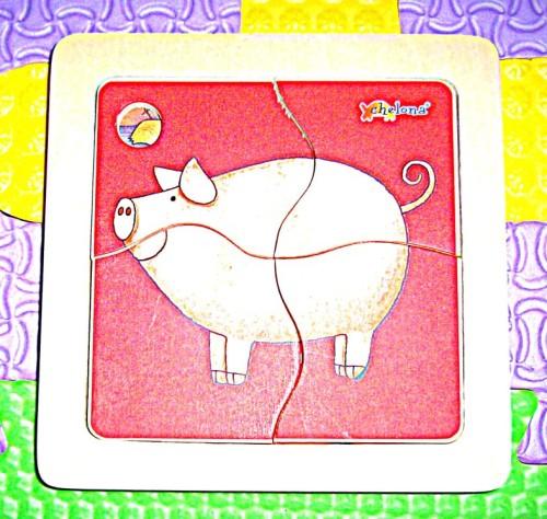 puzzle świnka