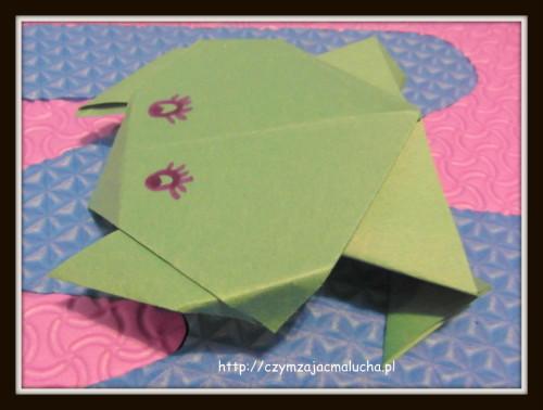 żaba z origami