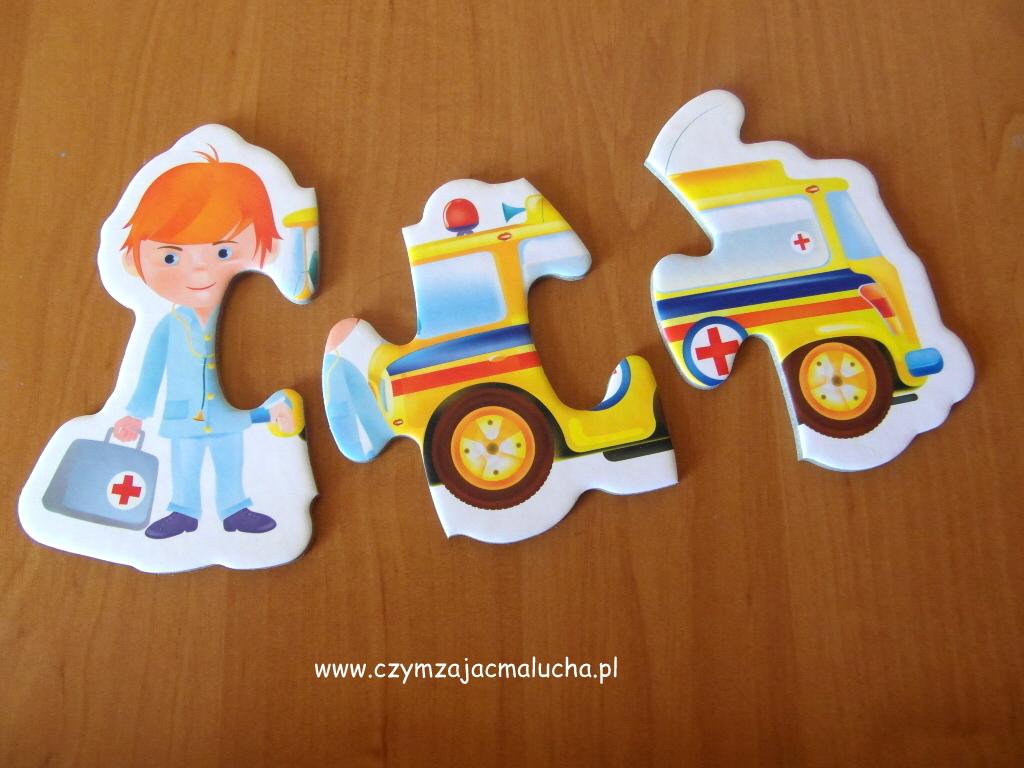 puzzle z samochodami