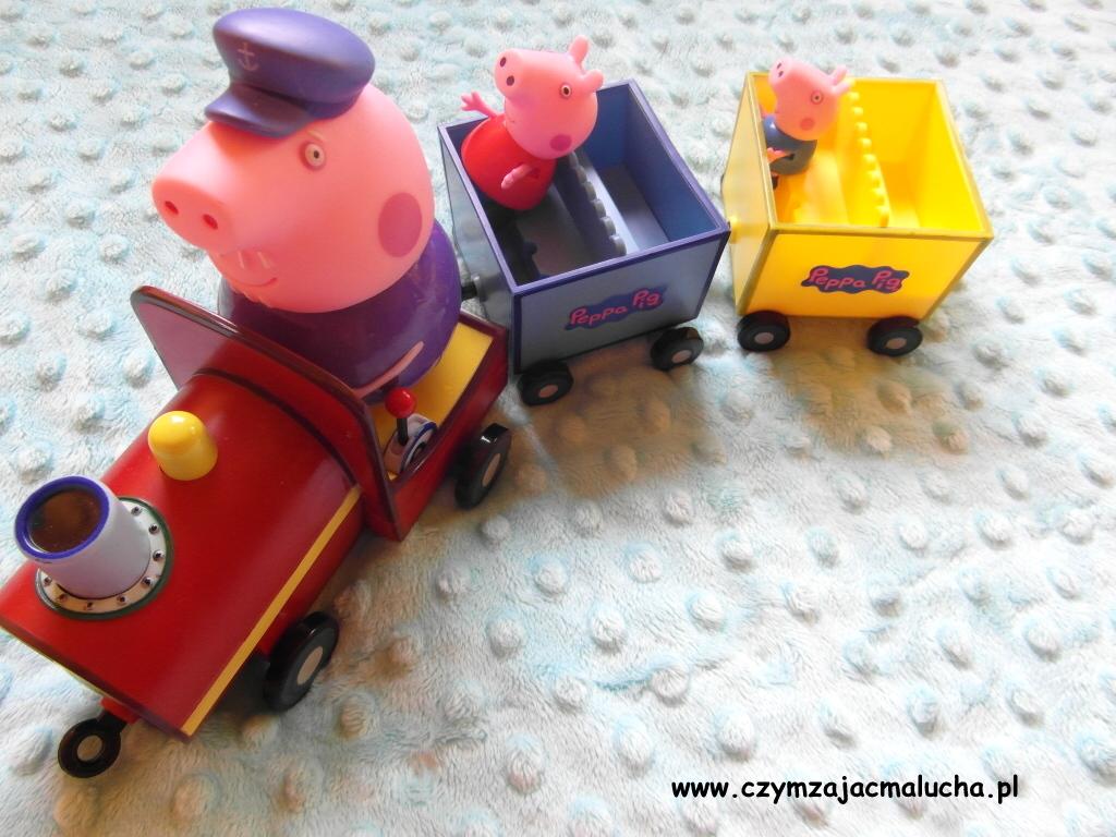 pociąg dziadka świnki
