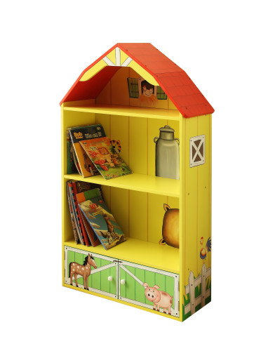 Teamson-Kids-Happy-Farm-Room-Wooden-Barn-Bookcase
