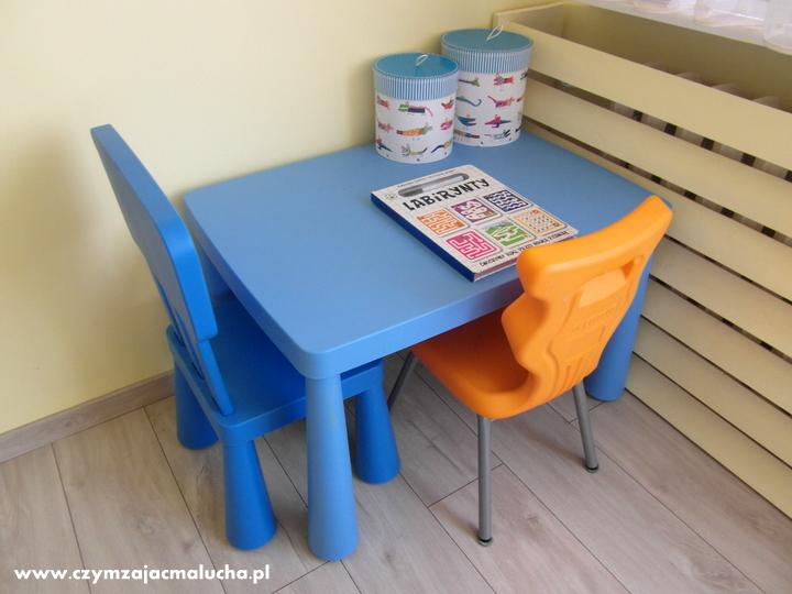 stolik i krzesło dla dzieci