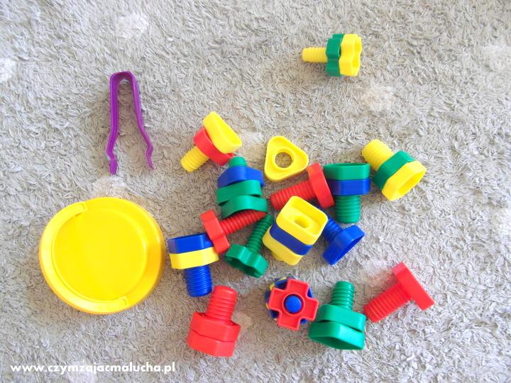śrubki i nakrętki dla dzieci