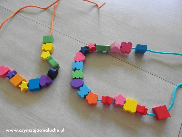 naszyjnik dla dzieci z koralików