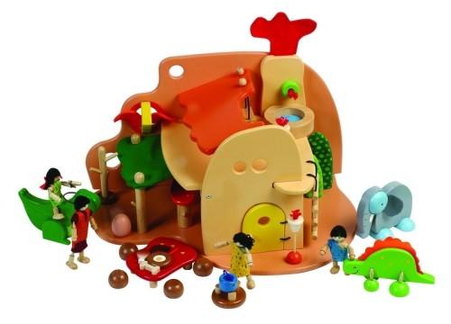 drewniany domek dla dzieci