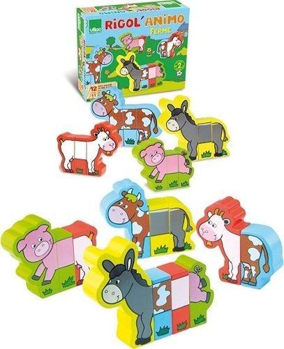 drewniane puzzle dla dzieci