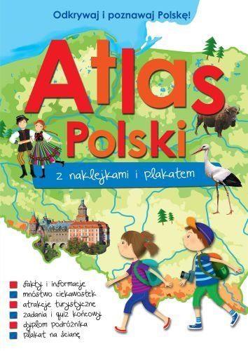 atlas polski z naklejkami