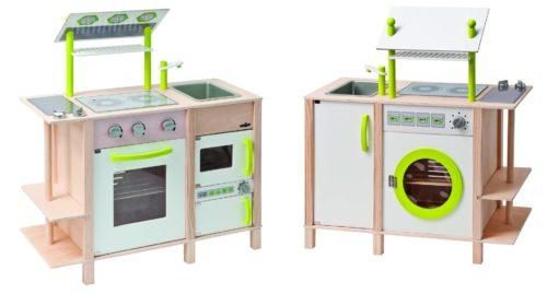 kuchenka drewniana dla dzieci z pralką